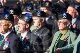 Remembrance Sunday at the Cenotaph in London 2014: Group A35 - Queen's Own Highlanders Regimental Association. Press stand opposite the Foreign Office building, Whitehall, London SW1, London, Greater London, United Kingdom, on 09 November 2014 at 12:06, image #1461