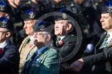Remembrance Sunday at the Cenotaph in London 2014: Group A35 - Queen's Own Highlanders Regimental Association. Press stand opposite the Foreign Office building, Whitehall, London SW1, London, Greater London, United Kingdom, on 09 November 2014 at 12:06, image #1463