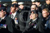 Remembrance Sunday at the Cenotaph in London 2014: Group A36 - The Staffordshire Regiment. Press stand opposite the Foreign Office building, Whitehall, London SW1, London, Greater London, United Kingdom, on 09 November 2014 at 12:06, image #1477