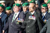 Remembrance Sunday at the Cenotaph in London 2014: Group B1 - Intelligence Corps Association. Press stand opposite the Foreign Office building, Whitehall, London SW1, London, Greater London, United Kingdom, on 09 November 2014 at 12:06, image #1483