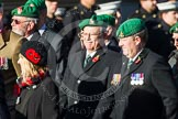 Remembrance Sunday at the Cenotaph in London 2014: Group B1 - Intelligence Corps Association. Press stand opposite the Foreign Office building, Whitehall, London SW1, London, Greater London, United Kingdom, on 09 November 2014 at 12:06, image #1487