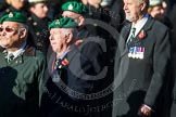 Remembrance Sunday at the Cenotaph in London 2014: Group B1 - Intelligence Corps Association. Press stand opposite the Foreign Office building, Whitehall, London SW1, London, Greater London, United Kingdom, on 09 November 2014 at 12:06, image #1491