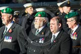 Remembrance Sunday at the Cenotaph in London 2014: Group B1 - Intelligence Corps Association. Press stand opposite the Foreign Office building, Whitehall, London SW1, London, Greater London, United Kingdom, on 09 November 2014 at 12:06, image #1493