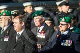 Remembrance Sunday at the Cenotaph in London 2014: Group B1 - Intelligence Corps Association. Press stand opposite the Foreign Office building, Whitehall, London SW1, London, Greater London, United Kingdom, on 09 November 2014 at 12:06, image #1494