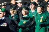 Remembrance Sunday at the Cenotaph in London 2014: Group B2 - Women's Royal Army Corps Association. Press stand opposite the Foreign Office building, Whitehall, London SW1, London, Greater London, United Kingdom, on 09 November 2014 at 12:06, image #1495
