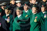 Remembrance Sunday at the Cenotaph in London 2014: Group B2 - Women's Royal Army Corps Association. Press stand opposite the Foreign Office building, Whitehall, London SW1, London, Greater London, United Kingdom, on 09 November 2014 at 12:06, image #1496