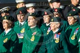 Remembrance Sunday at the Cenotaph in London 2014: Group B2 - Women's Royal Army Corps Association. Press stand opposite the Foreign Office building, Whitehall, London SW1, London, Greater London, United Kingdom, on 09 November 2014 at 12:06, image #1497
