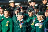 Remembrance Sunday at the Cenotaph in London 2014: Group B2 - Women's Royal Army Corps Association. Press stand opposite the Foreign Office building, Whitehall, London SW1, London, Greater London, United Kingdom, on 09 November 2014 at 12:06, image #1498