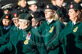Remembrance Sunday at the Cenotaph in London 2014: Group B2 - Women's Royal Army Corps Association. Press stand opposite the Foreign Office building, Whitehall, London SW1, London, Greater London, United Kingdom, on 09 November 2014 at 12:06, image #1501