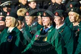 Remembrance Sunday at the Cenotaph in London 2014: Group B2 - Women's Royal Army Corps Association. Press stand opposite the Foreign Office building, Whitehall, London SW1, London, Greater London, United Kingdom, on 09 November 2014 at 12:06, image #1509
