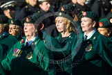 Remembrance Sunday at the Cenotaph in London 2014: Group B2 - Women's Royal Army Corps Association. Press stand opposite the Foreign Office building, Whitehall, London SW1, London, Greater London, United Kingdom, on 09 November 2014 at 12:06, image #1510