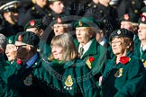 Remembrance Sunday at the Cenotaph in London 2014: Group B2 - Women's Royal Army Corps Association. Press stand opposite the Foreign Office building, Whitehall, London SW1, London, Greater London, United Kingdom, on 09 November 2014 at 12:07, image #1512