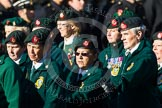 Remembrance Sunday at the Cenotaph in London 2014: Group B2 - Women's Royal Army Corps Association. Press stand opposite the Foreign Office building, Whitehall, London SW1, London, Greater London, United Kingdom, on 09 November 2014 at 12:07, image #1516