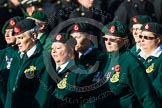 Remembrance Sunday at the Cenotaph in London 2014: Group B2 - Women's Royal Army Corps Association. Press stand opposite the Foreign Office building, Whitehall, London SW1, London, Greater London, United Kingdom, on 09 November 2014 at 12:07, image #1517