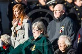 Remembrance Sunday at the Cenotaph in London 2014: Group B2 - Women's Royal Army Corps Association. Press stand opposite the Foreign Office building, Whitehall, London SW1, London, Greater London, United Kingdom, on 09 November 2014 at 12:07, image #1521