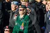 Remembrance Sunday at the Cenotaph in London 2014: Group B2 - Women's Royal Army Corps Association. Press stand opposite the Foreign Office building, Whitehall, London SW1, London, Greater London, United Kingdom, on 09 November 2014 at 12:07, image #1523
