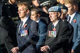 Remembrance Sunday at the Cenotaph in London 2014: Group B3 - 656 Squadron Association. Press stand opposite the Foreign Office building, Whitehall, London SW1, London, Greater London, United Kingdom, on 09 November 2014 at 12:07, image #1525