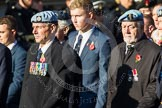 Remembrance Sunday at the Cenotaph in London 2014: Group B3 - 656 Squadron Association. Press stand opposite the Foreign Office building, Whitehall, London SW1, London, Greater London, United Kingdom, on 09 November 2014 at 12:07, image #1526