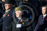 Remembrance Sunday at the Cenotaph in London 2014: Group B4 - Home Guard Association. Press stand opposite the Foreign Office building, Whitehall, London SW1, London, Greater London, United Kingdom, on 09 November 2014 at 12:07, image #1532
