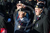 Remembrance Sunday at the Cenotaph in London 2014: Group B8 - Royal Engineers Association. Press stand opposite the Foreign Office building, Whitehall, London SW1, London, Greater London, United Kingdom, on 09 November 2014 at 12:07, image #1561