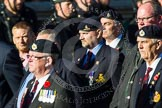 Remembrance Sunday at the Cenotaph in London 2014: Group B8 - Royal Engineers Association. Press stand opposite the Foreign Office building, Whitehall, London SW1, London, Greater London, United Kingdom, on 09 November 2014 at 12:08, image #1567