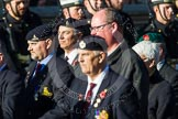 Remembrance Sunday at the Cenotaph in London 2014: Group B8 - Royal Engineers Association. Press stand opposite the Foreign Office building, Whitehall, London SW1, London, Greater London, United Kingdom, on 09 November 2014 at 12:08, image #1568