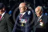 Remembrance Sunday at the Cenotaph in London 2014: Group B8 - Royal Engineers Association. Press stand opposite the Foreign Office building, Whitehall, London SW1, London, Greater London, United Kingdom, on 09 November 2014 at 12:08, image #1571