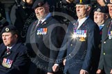 Remembrance Sunday at the Cenotaph in London 2014: Group B9 - Royal Engineers Bomb Disposal Association. Press stand opposite the Foreign Office building, Whitehall, London SW1, London, Greater London, United Kingdom, on 09 November 2014 at 12:08, image #1575