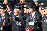 Remembrance Sunday at the Cenotaph in London 2014: Group B9 - Royal Engineers Bomb Disposal Association. Press stand opposite the Foreign Office building, Whitehall, London SW1, London, Greater London, United Kingdom, on 09 November 2014 at 12:08, image #1578