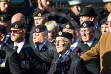 Remembrance Sunday at the Cenotaph in London 2014: Group B9 - Royal Engineers Bomb Disposal Association. Press stand opposite the Foreign Office building, Whitehall, London SW1, London, Greater London, United Kingdom, on 09 November 2014 at 12:08, image #1582