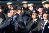 Remembrance Sunday at the Cenotaph in London 2014: Group B9 - Royal Engineers Bomb Disposal Association. Press stand opposite the Foreign Office building, Whitehall, London SW1, London, Greater London, United Kingdom, on 09 November 2014 at 12:08, image #1588