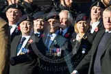 Remembrance Sunday at the Cenotaph in London 2014: Group B11 - Royal Signals Association. Press stand opposite the Foreign Office building, Whitehall, London SW1, London, Greater London, United Kingdom, on 09 November 2014 at 12:08, image #1608
