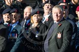 Remembrance Sunday at the Cenotaph in London 2014: Group B11 - Royal Signals Association. Press stand opposite the Foreign Office building, Whitehall, London SW1, London, Greater London, United Kingdom, on 09 November 2014 at 12:08, image #1609
