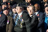 Remembrance Sunday at the Cenotaph in London 2014: Group B11 - Royal Signals Association. Press stand opposite the Foreign Office building, Whitehall, London SW1, London, Greater London, United Kingdom, on 09 November 2014 at 12:08, image #1613