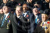 Remembrance Sunday at the Cenotaph in London 2014: Group B11 - Royal Signals Association. Press stand opposite the Foreign Office building, Whitehall, London SW1, London, Greater London, United Kingdom, on 09 November 2014 at 12:08, image #1614