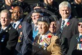 Remembrance Sunday at the Cenotaph in London 2014: Group B11 - Royal Signals Association. Press stand opposite the Foreign Office building, Whitehall, London SW1, London, Greater London, United Kingdom, on 09 November 2014 at 12:08, image #1615