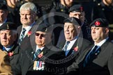 Remembrance Sunday at the Cenotaph in London 2014: Group B11 - Royal Signals Association. Press stand opposite the Foreign Office building, Whitehall, London SW1, London, Greater London, United Kingdom, on 09 November 2014 at 12:08, image #1617