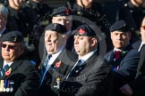 Remembrance Sunday at the Cenotaph in London 2014: Group B11 - Royal Signals Association. Press stand opposite the Foreign Office building, Whitehall, London SW1, London, Greater London, United Kingdom, on 09 November 2014 at 12:08, image #1618