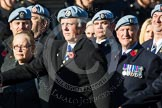 Remembrance Sunday at the Cenotaph in London 2014: Group B12 - Army Air Corps Association. Press stand opposite the Foreign Office building, Whitehall, London SW1, London, Greater London, United Kingdom, on 09 November 2014 at 12:09, image #1633