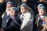 Remembrance Sunday at the Cenotaph in London 2014: Group B12 - Army Air Corps Association. Press stand opposite the Foreign Office building, Whitehall, London SW1, London, Greater London, United Kingdom, on 09 November 2014 at 12:09, image #1636