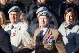 Remembrance Sunday at the Cenotaph in London 2014: Group B12 - Army Air Corps Association. Press stand opposite the Foreign Office building, Whitehall, London SW1, London, Greater London, United Kingdom, on 09 November 2014 at 12:09, image #1637