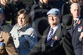 Remembrance Sunday at the Cenotaph in London 2014: Group B12 - Army Air Corps Association. Press stand opposite the Foreign Office building, Whitehall, London SW1, London, Greater London, United Kingdom, on 09 November 2014 at 12:09, image #1639