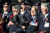 Remembrance Sunday at the Cenotaph in London 2014: Group B13 - Royal Army Service Corps & Royal Corps of Transport Association. Press stand opposite the Foreign Office building, Whitehall, London SW1, London, Greater London, United Kingdom, on 09 November 2014 at 12:09, image #1643