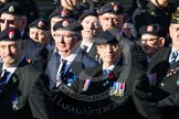 Remembrance Sunday at the Cenotaph in London 2014: Group B13 - Royal Army Service Corps & Royal Corps of Transport Association. Press stand opposite the Foreign Office building, Whitehall, London SW1, London, Greater London, United Kingdom, on 09 November 2014 at 12:09, image #1645