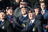Remembrance Sunday at the Cenotaph in London 2014: Group B13 - Royal Army Service Corps & Royal Corps of Transport Association. Press stand opposite the Foreign Office building, Whitehall, London SW1, London, Greater London, United Kingdom, on 09 November 2014 at 12:09, image #1648