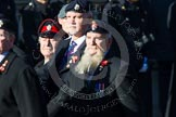 Remembrance Sunday at the Cenotaph in London 2014: Group B13 - Royal Army Service Corps & Royal Corps of Transport Association. Press stand opposite the Foreign Office building, Whitehall, London SW1, London, Greater London, United Kingdom, on 09 November 2014 at 12:09, image #1650