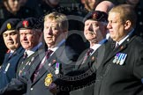 Remembrance Sunday at the Cenotaph in London 2014: Group B14 - RAOC Association. Press stand opposite the Foreign Office building, Whitehall, London SW1, London, Greater London, United Kingdom, on 09 November 2014 at 12:09, image #1656