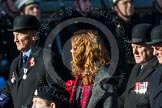 Remembrance Sunday at the Cenotaph in London 2014: Group B15 - Army Catering Corps Association. Press stand opposite the Foreign Office building, Whitehall, London SW1, London, Greater London, United Kingdom, on 09 November 2014 at 12:09, image #1659