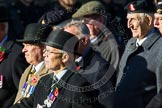 Remembrance Sunday at the Cenotaph in London 2014: Group B15 - Army Catering Corps Association. Press stand opposite the Foreign Office building, Whitehall, London SW1, London, Greater London, United Kingdom, on 09 November 2014 at 12:09, image #1661