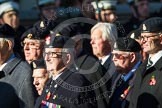 Remembrance Sunday at the Cenotaph in London 2014: Group B15 - Army Catering Corps Association. Press stand opposite the Foreign Office building, Whitehall, London SW1, London, Greater London, United Kingdom, on 09 November 2014 at 12:09, image #1662